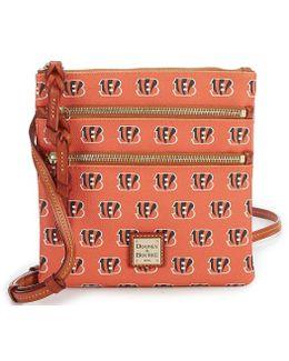 Nfl Cincinnati Bengals Triple Zip Cross-body Bag