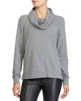 French Terry Funnelneck Top