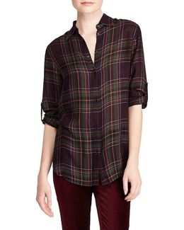 Plaid Roll-cuff Shirt