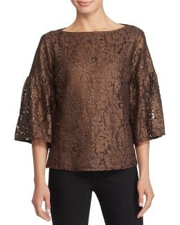 Lace Boatneck Shirt