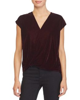 Velvet Surplice Top
