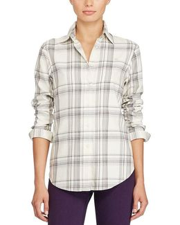 Petite Plaid Cotton Shirt