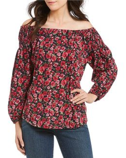 Petite Jersey Off-the-shoulder Top