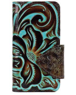 Turquoise Tooled Vara Iphone 7 Folio Case