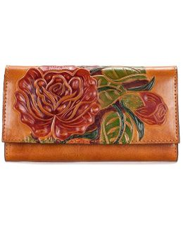 Painted Rose Collection Floral Terresa Wallet