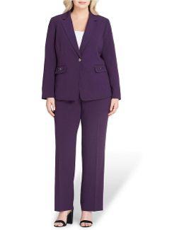 Plus Notch Collar Pant Suit