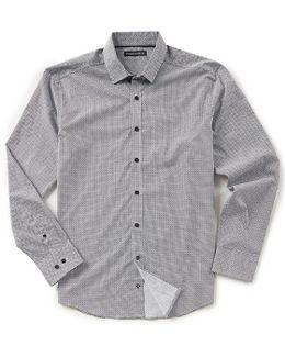 Slim-fit Geo Print Long-sleeve Woven Shirt