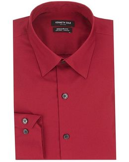 Non-iron Regular Fitted Classic-fit Point Collar Dress Shirt