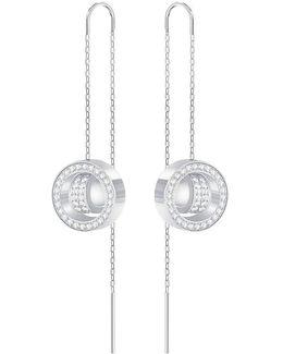 Hollow Crystal Threader Drop Earrings