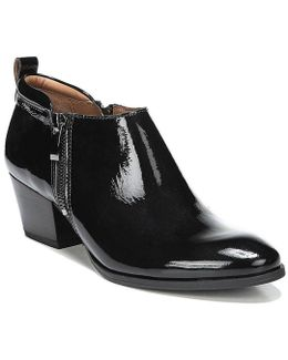 Sarto By Patent Leather Granite Booties
