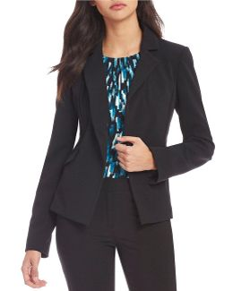 Scuba Crepe Suiting One-button Cutaway Jacket