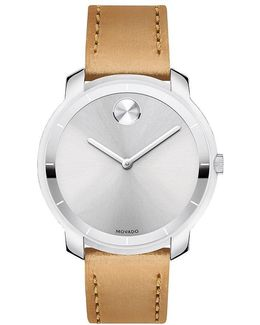 Analog Leather-strap Watch