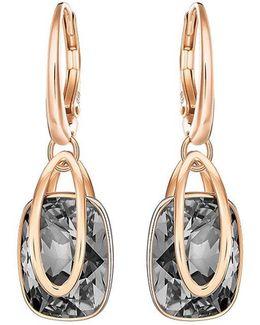 Holding Crystal Drop Earrings