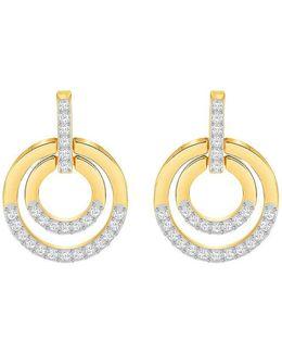 Circle Pav Hoop Earrings