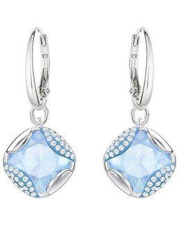 Heap Square Crystal Drop Earrings