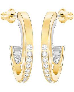Circle Crystal Hoop Earrings
