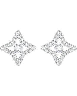 Sparkling Pav Star Stud Earrings