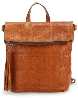 Luzille Tasseled Woven Convertible Backpack