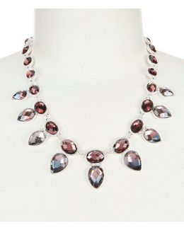 Faceted Faux-crystal Collar Necklace