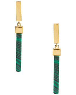 Sunset Valley Malachite Linear Drop Earrings