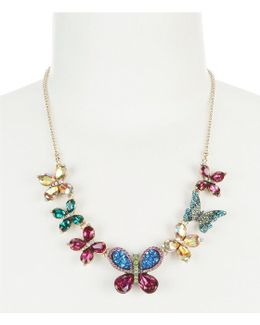 Colorful Butterfly Frontal Statement Necklace