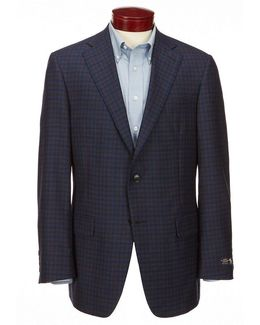 Classic-fit Plaid Wool Sportcoat