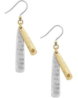 Double-layer Drop Earrings