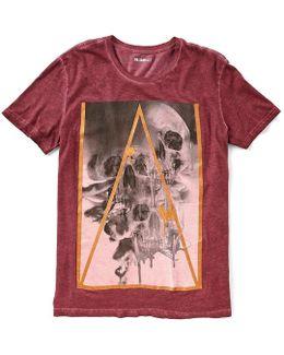 Triple Skull Short-sleeve Graphic T-shirt