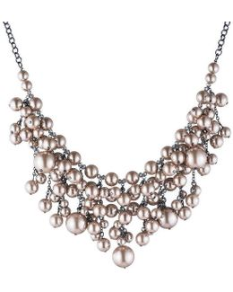 Queen Of Gems Faux-pearl Statement Necklace