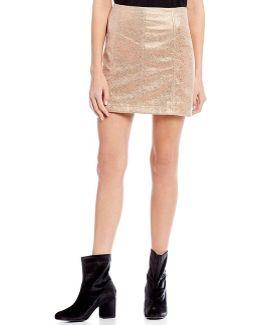 Metallic Modern Femme Mini Skirt