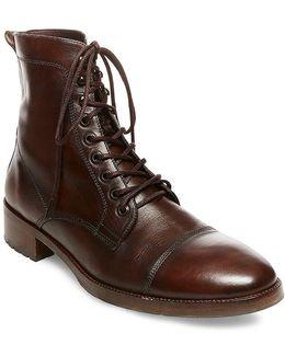 Gq + Men's Ted Cap Toe Boots