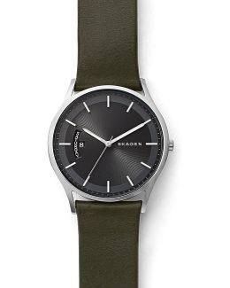 Holst Analog, Day & Date Leather-strap Watch