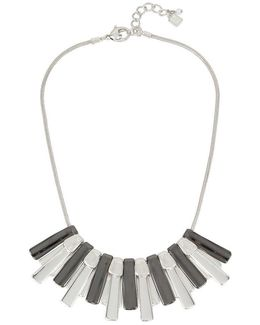 Hematite Sunray Frontal Necklace