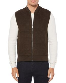 Quilted Full-zip Front Vest