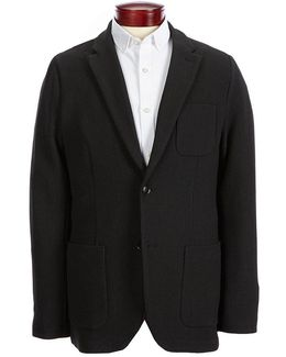 Slim-fit Knit Textured Sport Jacket