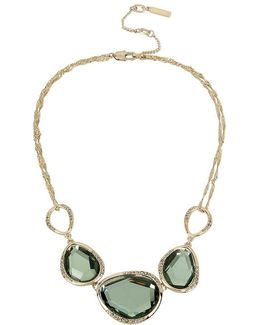 Pav Stone Frontal Necklace