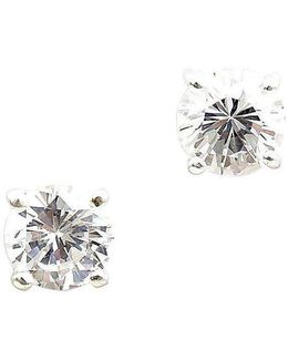 Christina Round Cubic Zirconia Stud Earrings