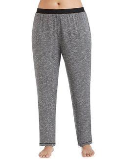 Plus Marbled Knit Jogger Sleep Pants