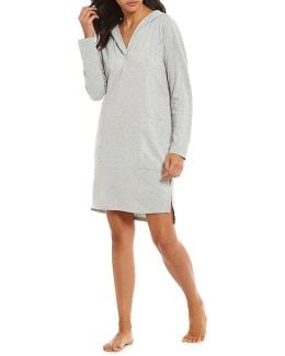 Hooded Jacquard Lounge Tunic