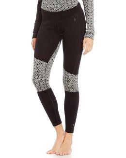 Asymmetrical Geometric Merino Wool Baselayer Pants