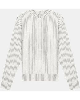 Scuba Jersey Pinstripe Pullover