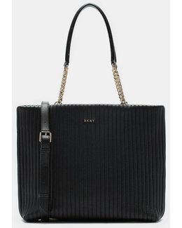 Quilted Lamb Nappa Pinstripe Shopper
