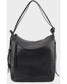Soft Leather Hobo Convertible Bag