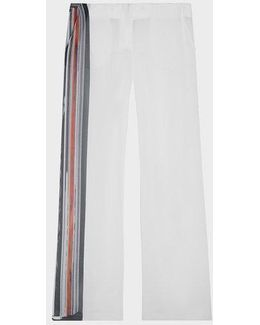 Sheer Pant With Stripe