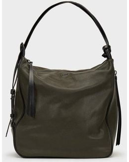 Soft Leather Hobo Convertible Tote