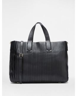 Large Pleated Tote
