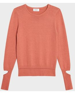 Sweater With Cut Out Sleeves