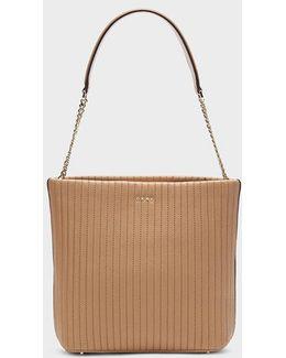 Pinstripe Bucket Bag