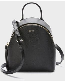 Mini Bryant Park Cross Saffiano Backpack