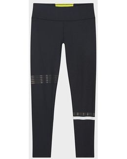 Full Length Mid-rise Legging With Paneling